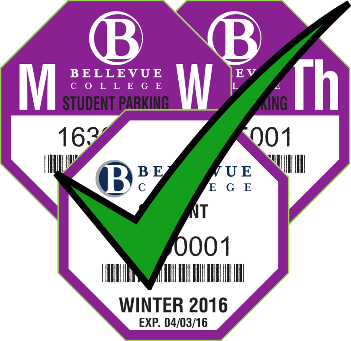 Winter 2015 Student Quarterly All-Campus Permit Examples